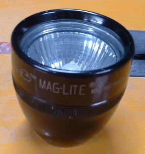 How to fit a halogen mr16 into a maglite for a dive torch..